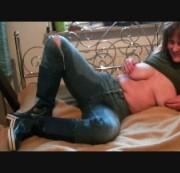 jeans fetisch viel wichse