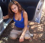 Angelina-Fierley - Geiles Outdoor Pissen! Willst du mich sauberlecken?