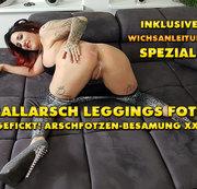 QueenParis - Prallarsch Leggings Fotze Abgefickt! Arschfotzen-Besamung XXXL!