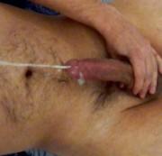 Sperma auf den Po